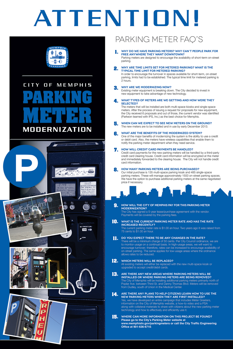 City of Memphis Parking Meters Posters