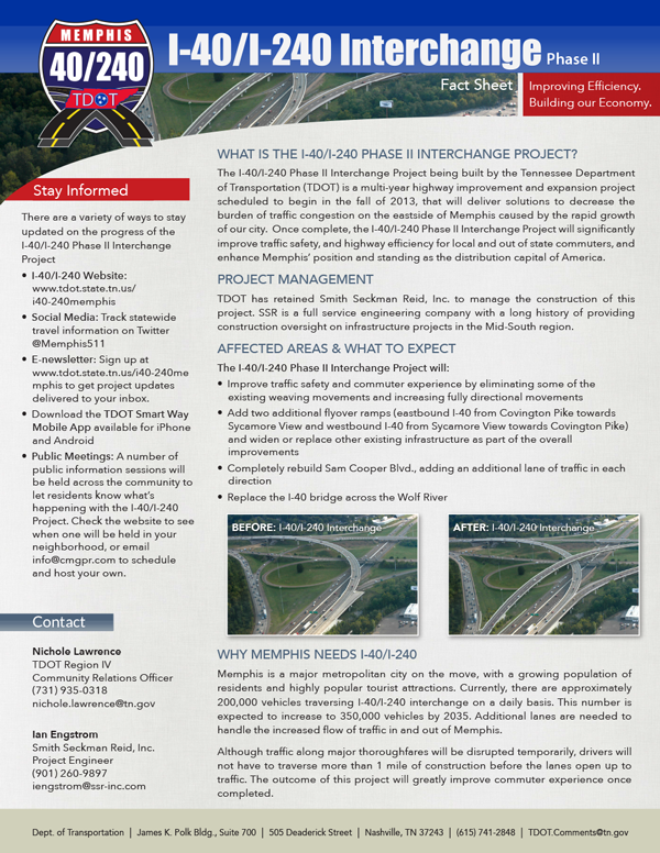TDOT i40/240 Interchange Fact Sheet
