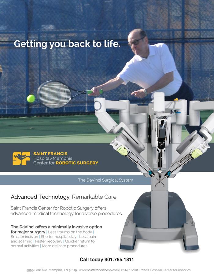Saint Francis Hospital - Memphis Robotics Ad